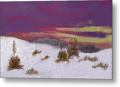 White Sands New Mexico Metal Print by J Cheyenne Howell