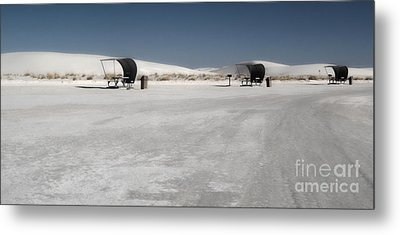White Sands New Mexico Rest Area Metal Print by Gregory Dyer