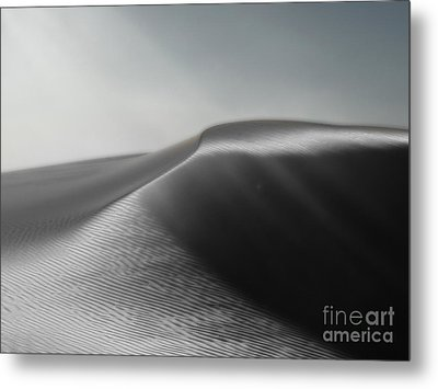 White Sands New Mexico Silver Dune Metal Print by Gregory Dyer