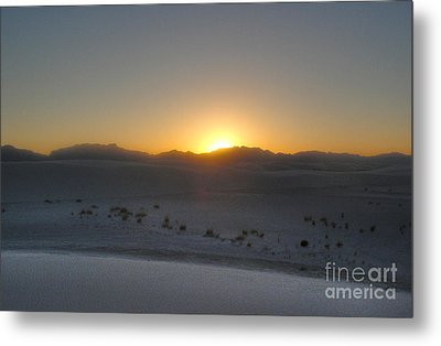 White Sands New Mexico Sunset Metal Print by Gregory Dyer