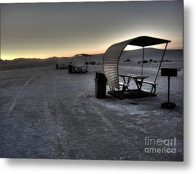 White Sands New Mexico Sunset Twilight 02 Metal Print by Gregory Dyer