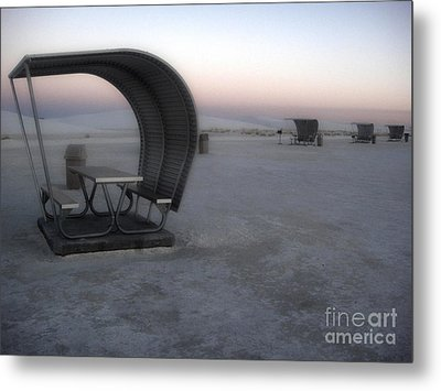 White Sands New Mexico Sunset Twilight Metal Print by Gregory Dyer