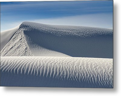 Metal Print featuring the photograph White Sands Ridges by Kristal Kraft