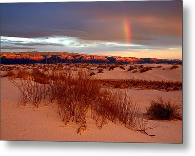 Metal Print featuring the photograph White Sands Sunset by Christopher McKenzie