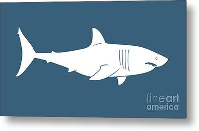 White Shark Metal Print by Amy Kirkpatrick