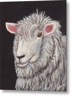 White Sheep Metal Print by Anastasiya Malakhova