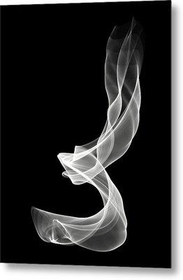 White Smoke Metal Print by Matthew Angelo