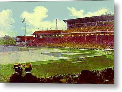 White Sox Ball Park In Chicago Il Around 1915 Metal Print by Dwight Goss
