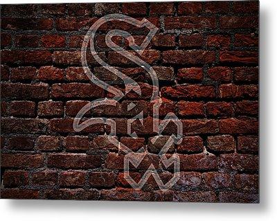 White Sox Baseball Graffiti On Brick  Metal Print