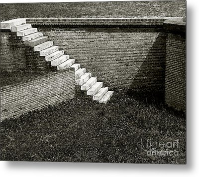 White Steps At Fort Barrancas Metal Print