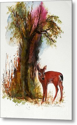 White Tail Metal Print