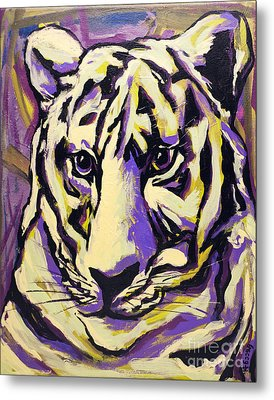 White Tiger Not Metal Print by Becca Lynn Weeks