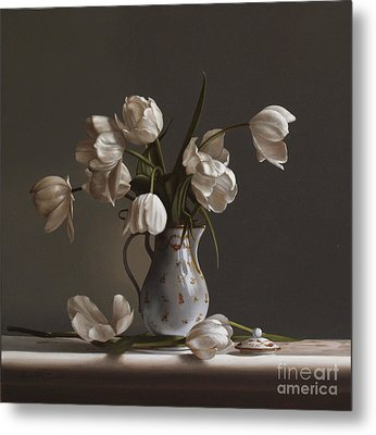White Tulips Metal Print by Larry Preston