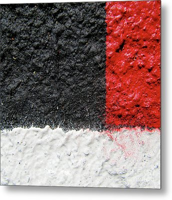 Metal Print featuring the photograph White Versus Black Over Red by CML Brown
