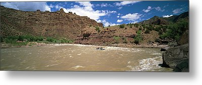 White Water Rafting In Green River Metal Print by Panoramic Images