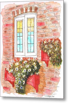 White Window Metal Print