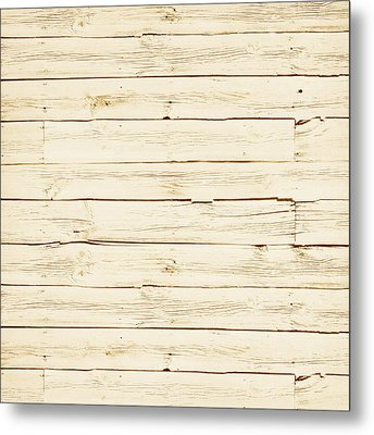 White Wood Metal Print