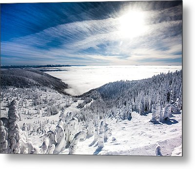 Whitefish Inversion Metal Print by Aaron Aldrich