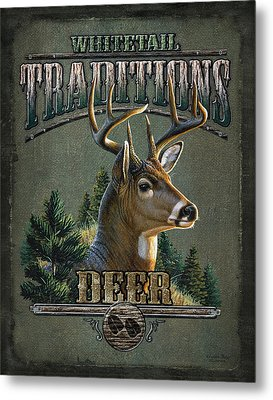 Whitetail Deer Traditions Metal Print by JQ Licensing
