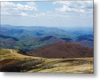 Whitetop Mountain Virginia Metal Print by Laurinda Bowling