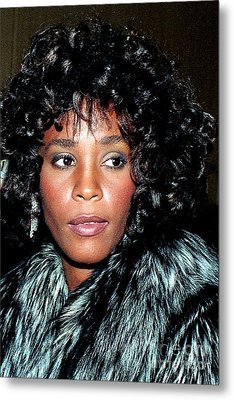 Whitney Houston 1989 Metal Print
