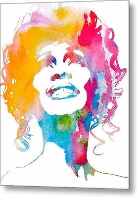 Whitney Houston Metal Print by Dan Sproul