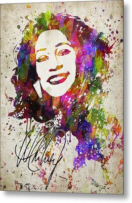 Whitney Houston In Color Metal Print