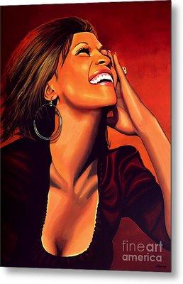 Whitney Houston Metal Print