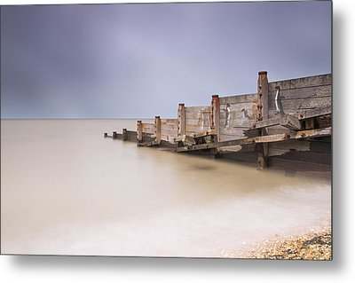 Whitstable Beach - Penguins Metal Print by Ian Hufton