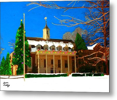 Whittle Hall At Christmas Metal Print