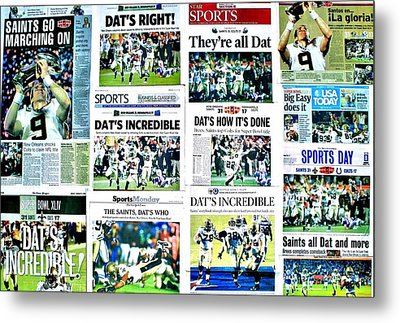 Who Dat Headlines Metal Print by Benjamin Yeager