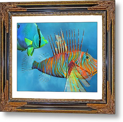 Who Framed The Fishes Metal Print