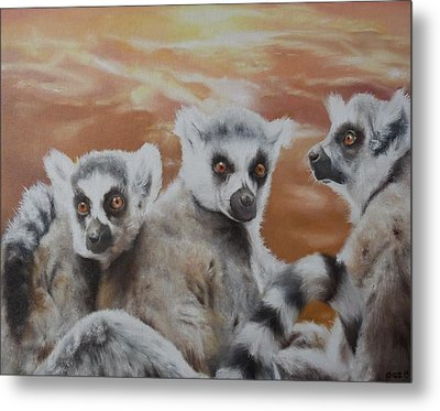 Who What Where Metal Print by Cherise Foster