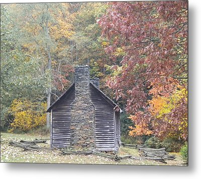Metal Print featuring the photograph Whorley Homeplace At Rocky Knob Cabins Blue Ridge Parkway by Diannah Lynch