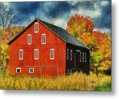 Why Do They Paint Barns Red? Metal Print by Lois Bryan