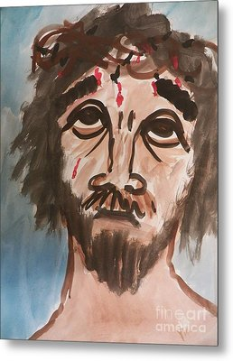 Why Have You Forsaken Me Metal Print by Judy Via-Wolff