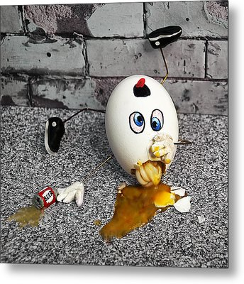 Why Humpty Fell Metal Print by Rick Mosher
