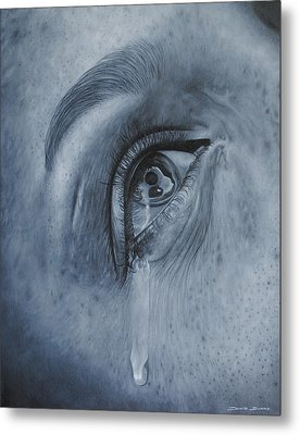 Why Is She Crying Metal Print by David Dunne