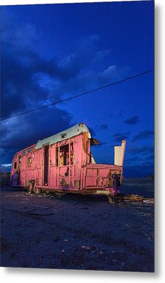 Why Pink Airstream Travel Trailer Metal Print