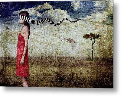 Why Yes Emily I Do Like Giraffes Metal Print by Andre Giovina