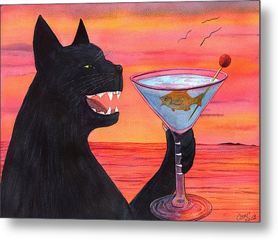 Wicked Kittys Cattini Metal Print by Catherine G McElroy