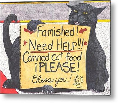 Wicked Kitty's Corner Metal Print by Catherine G McElroy