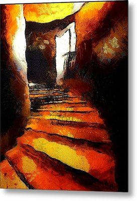 Wicked Stairs Metal Print by Gun Legler