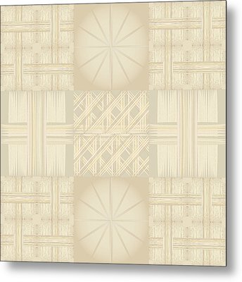 Wicker Quilt Metal Print by Kevin McLaughlin