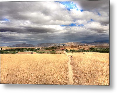 Metal Print featuring the photograph Wide Land by Martina  Rathgens