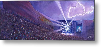 Widespread Panic Redrocks Lighting Metal Print by David Sockrider