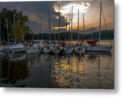 Wierzba Yacht Marina In The Afternoon Metal Print