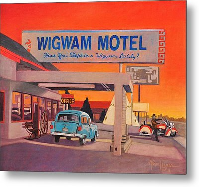 Wigwam Motel Metal Print by Art James West