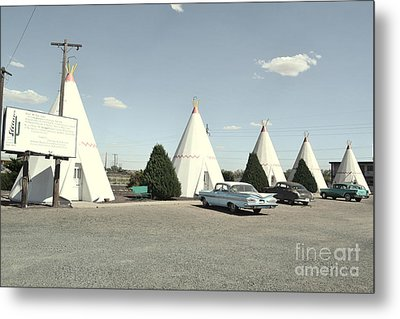 Metal Print featuring the photograph Wigwams In Arizona by Utopia Concepts