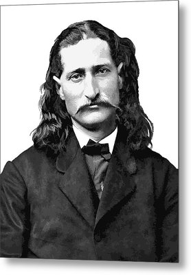 Wild Bill Hickok White Background Metal Print